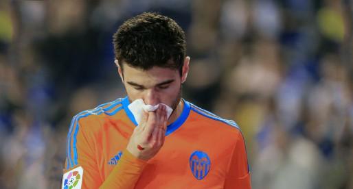 Barragán acabà el partit amb el nas trencat