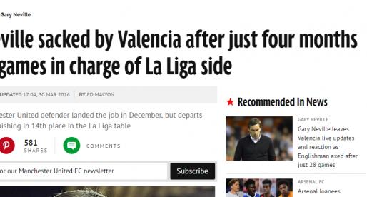 La premsa anglesa es fa ressò de l'adéu de Neville