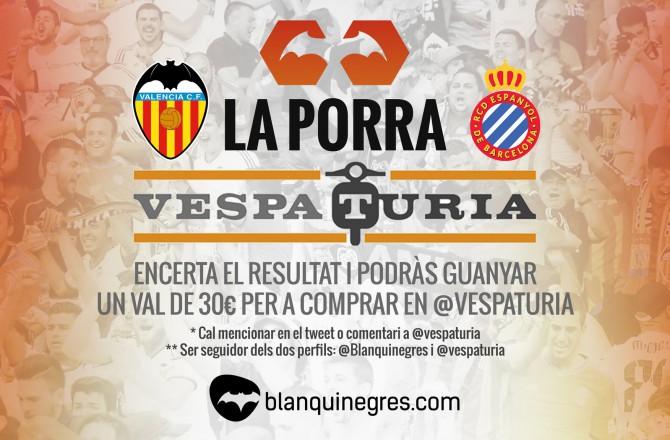 Guanyador de la Porra Vespaturia del ValènciaCF- Espanyol