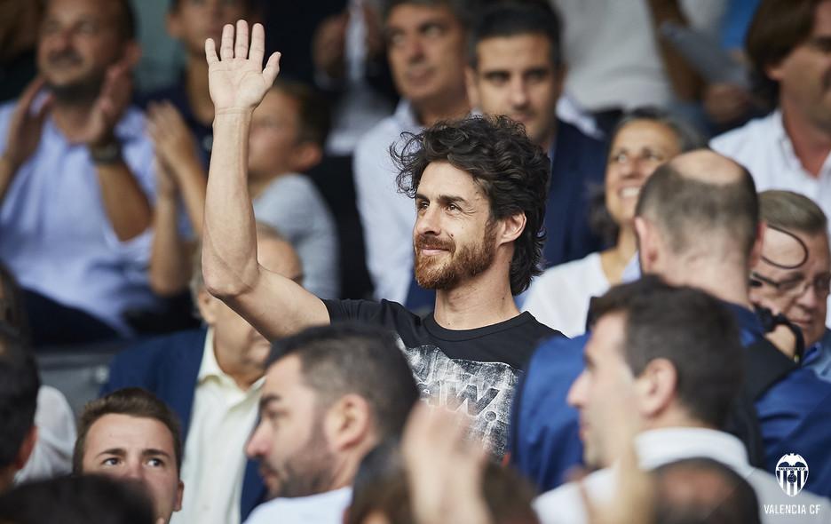 Pablo Aimar espectador de luxe del València-Atlético