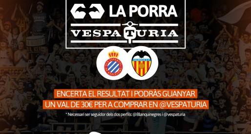 Guanyador Porra Vespaturia Espanyol-ValènciaCF
