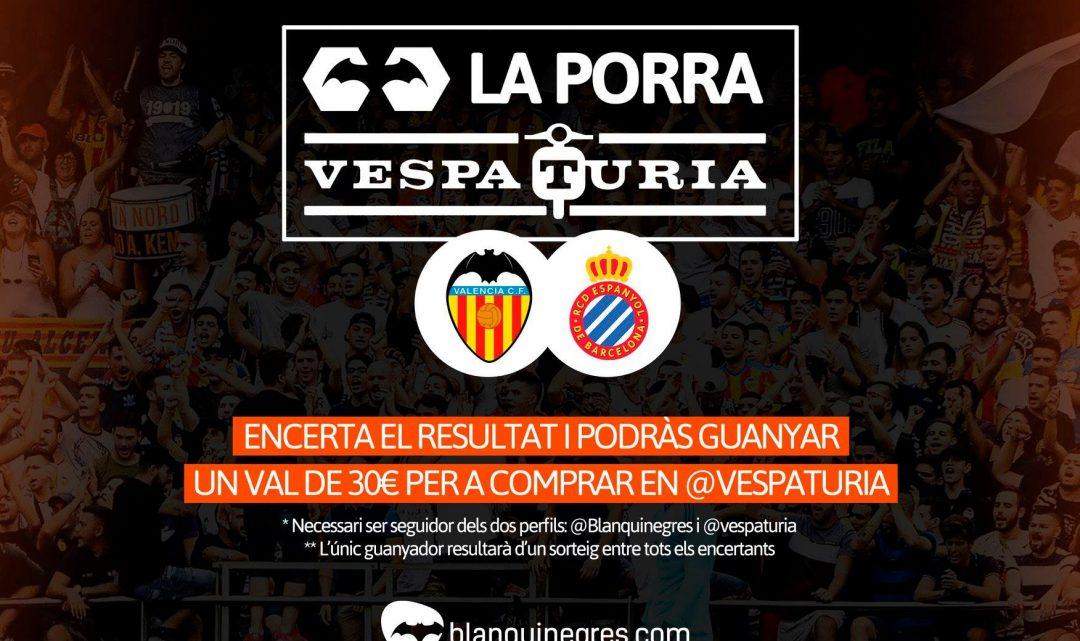 Guanyador Porra Vespaturia València CF – Espanyol
