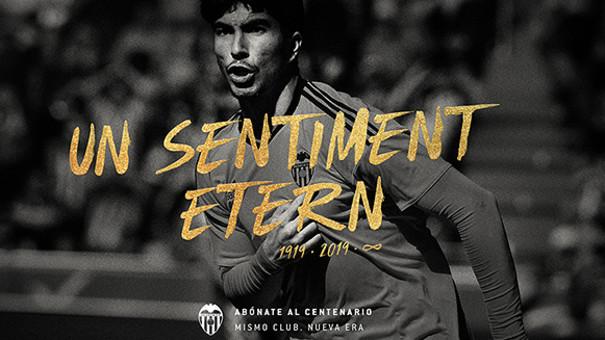 """El València CF presenta la campanya d'abonaments baix el lema """"Un sentiment etern"""""""