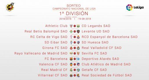 L'Atlètic de Madrid serà el primer rival el Lliga