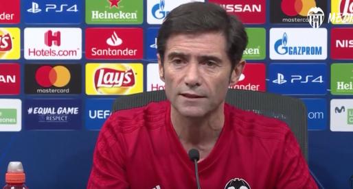 """Marcelino: """"Este club, estos jugadors i esta afició, ha treballat per a disfrutar d'açò"""""""
