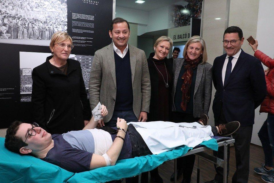 Mestalla, testimoni d'una donació de sang de rècord: prop de 1.000 persones