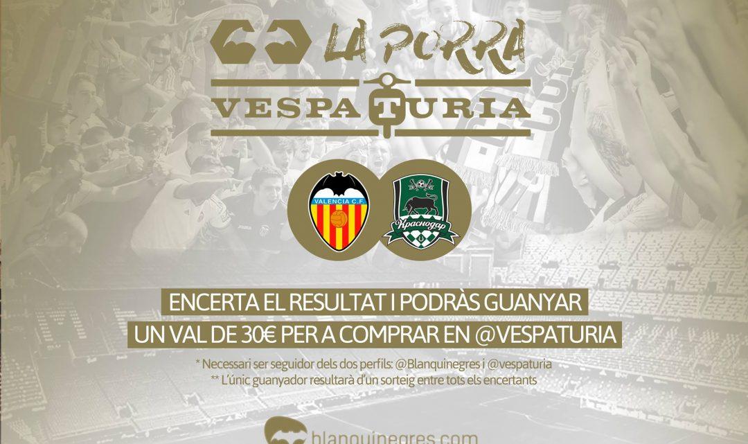 Guanyadora Porra Vespaturia València CF 2 – 1 Krasnodar