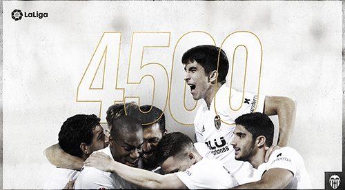 El València va marcar a Sevilla el seu gol 4.500 en lliga