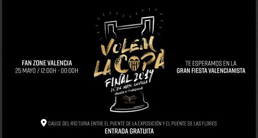 Disfruta tot el dia de la final de Copa en la 'Fan Zone' de València