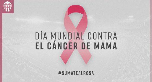El València CF es suma al rosa en suport a la lluita contra el càncer de mama