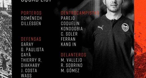 Ni Rodrigo, ni Gameiro, ni Guedes, ni Cheryshev estaran el dimecres