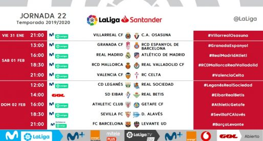 El València jugarà l'1 de febrer a les nou davant el Celta