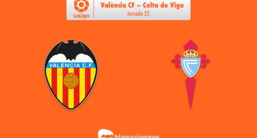 PRÈVIA: València CF – Celta de Vigo (La Lliga: J.22)