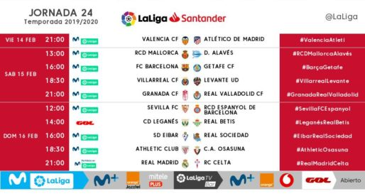 La Lliga canvia l'horari del València – Atlètic de Madrid