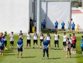 El primer equip ha guardat un minut de silenci en l'entrenament de hui