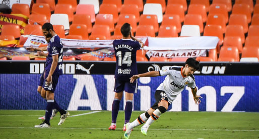 Kang In ja va ser important en l'última victòria a Mestalla davant el Valladolid