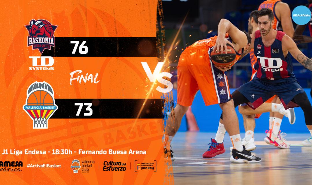València Bàsquet cau en un final apretat a Vitòria (76-73)