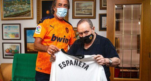 Españeta serà incinerat demà amb la camiseta del València