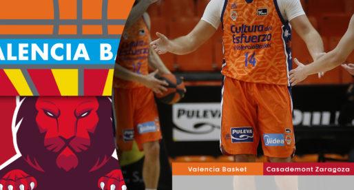 València Bàsquet remunta 21 punts i s'imposa a Casademont Saragossa