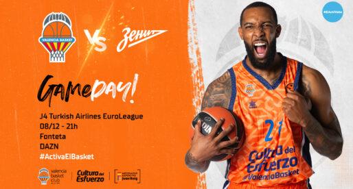 PRÈVIA: El València Basket buscarà la victòria davant el Zenit, la defensa més dura d'Europa