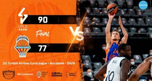 El València Bàsquet s'ofega en França