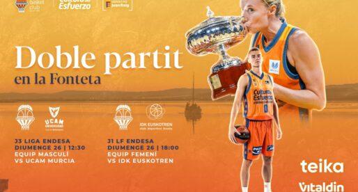 Entrades a la venda per als partits del diumenge 26 davant UCAM Murcia i IDK Euskotren