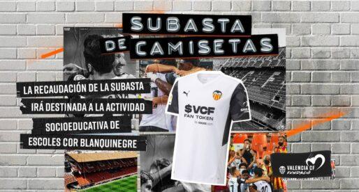 El València subhastarà camisetes del club per a la Fundació Escoles Cor Blanquinegre