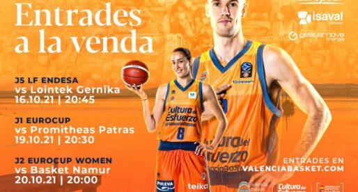 Entrades a la venda per als partits davant Lointek Gernika, Promitheas Patras i Basket Namur