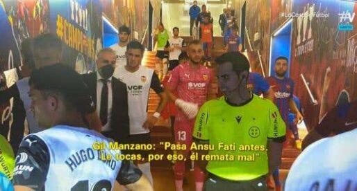 """Gil Manzano a Gayà: """"Toques a Ansu Fati, per això remata mal"""""""